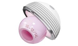 一杯兩襯設計,有陶瓷和高交聯聚乙烯兩種內襯可供選擇,表面采用雙涂層處理,提供最佳骨長入條件。赤道周圍的橫行溝槽提供良好的摩擦系數,因而可以提供良好的初始穩定性;外杯從44mm開始即可使用32mm的陶瓷頭,50mm以上外杯使用36mm的陶瓷頭。